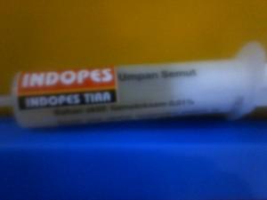 Obat basmi semut berbentuk gel dalam kemasan tube suntikan dengan berat 30 gram. Obat basmi semut merek INDOPES di ramu untuk semua jenis semut. Praktis dan efektif basmi semut yang bandel. Obat basmi semut yang sudah digunakan secara luas di berbagai wilayah Indonesia.