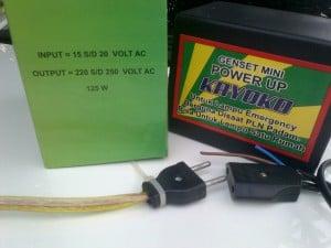 Genset Listrik Mini untuk lampu yang dapat mengashilkan daya listrik hingga 125 watt.