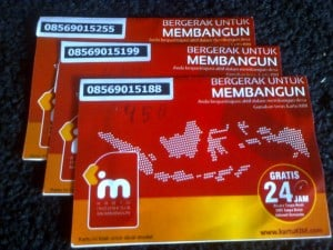 Contoh perdana kartu KIM Indosat ooredoo