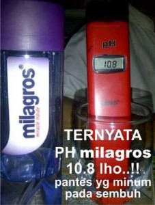 pH milagros 227x300 - AIR MINUM ANTI OKSIDAN dan ANTI RADIKAL BEBAS, BASA, DAN BERENERGI
