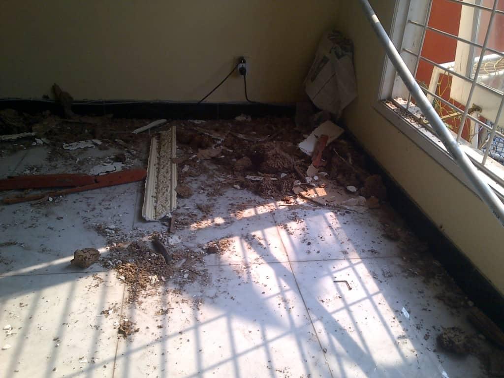 IMG 20141012 00247 1024x768 - Kayu atap yang kropos di makan rayap.